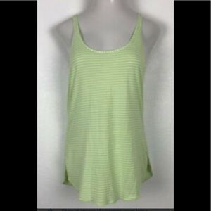 Lululemon Green Striped Racerback Tank